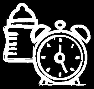 Routine Clock Bottle (Full White)